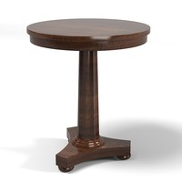 gregorius pineo traditional side end lamp table  round classic